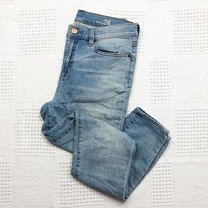 J. CREW   Light Wash Lookout High Rise Crop Jeans